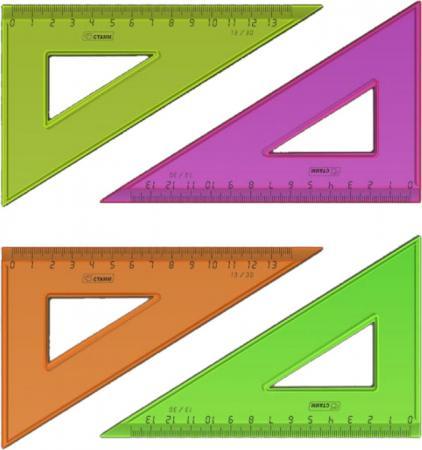 Треугольник СТАММ ТК33, 13 см, флюоресц., прозр., 4 цв. темно фиолетовый цв 13