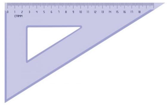 Треугольник СТАММ ТК49 18 см, тонированный, серый