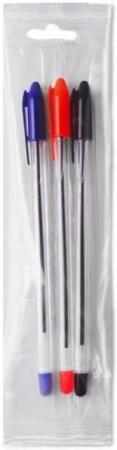 Шариковая ручка СТАММ VEGA, 3 цвета, 0.7 мм, на масляной основе шариковая ручка стамм 511 синий 0 7 мм рк25 рк25