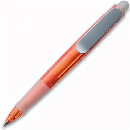 Ручка шариковая UNIVERSAL PROMOTION SNOWBOARD Silver Fluo, оранжевый корпус ручка шариковая universal promotion snowboard bianca белый корпус красные детали