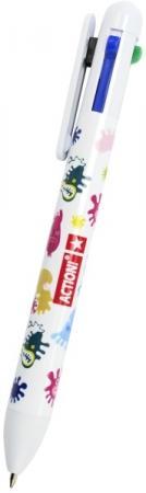 Ручка шариковая ACTION!, многоцветная, 4 цвета обрезка буквенных патчей многоцветная вышивка кружева аппликация diy аксессуар