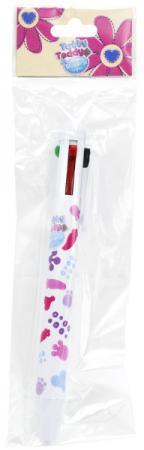 Ручка шариковая ACTION! Blue Nose Friends, многоцветная, 4 цвета наручные часы casio bga 131 7b