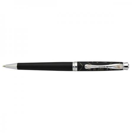 Шариковая ручка Flavio Ferrucci Tesoro, черный лакированный корпус, хромирован. колпачок, клип со ст