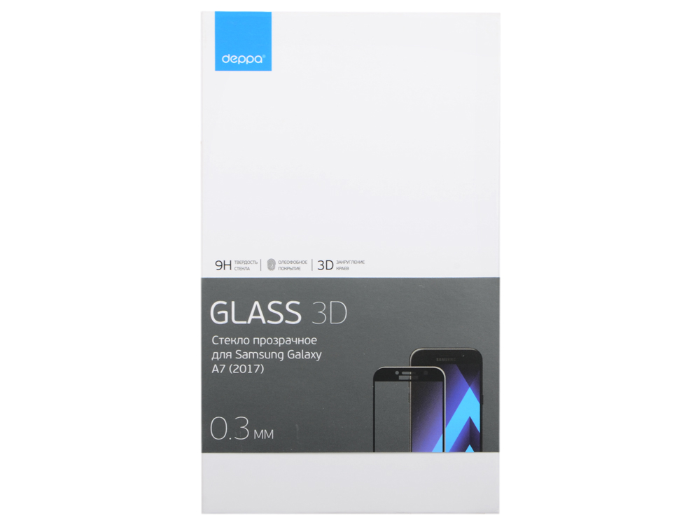 Защитное стекло Deppa 3D для Samsung Galaxy A7 2017 0.3 мм черный аксессуар защитное стекло для samsung galaxy a7 2018 mobius 3d full cover black 4232 214