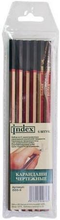 Набор графитовых карандашей Index I555-6 6 шт набор свечей тигренок с подсолнухом 9х6 см 6 шт