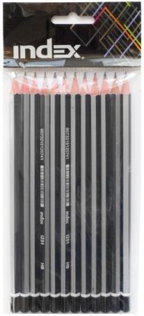 Набор графитовых карандашей Index I251/12 12 шт набор графитовых карандашей index i555 6 6 шт