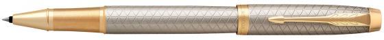 Ручка-роллер Parker IM Premium T323 Grey GT черный F 1931686 ручка роллер parker im premium t323 1931686 grey gt f черные чернила