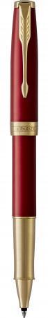 Ручка-роллер роллер Parker Sonnet Core T539 LaqRed GT черный F 1948085 ручка роллер parker im metal t223 r0811700 brushed metal gold gt f подар кор