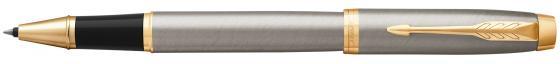 Ручка-роллер Parker IM Core T321 Brushed Metal GT черный F 1931663 ручка роллер parker im metal t220 s0856410 gun metal ct f черные чернила подар кор