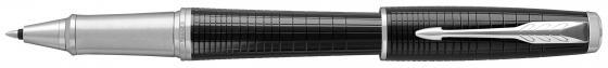 Ручка-роллер Parker Urban Premium T312 Ebony Metal CT F чернила черные 1931614 parker urban premium metallic pink s0949260