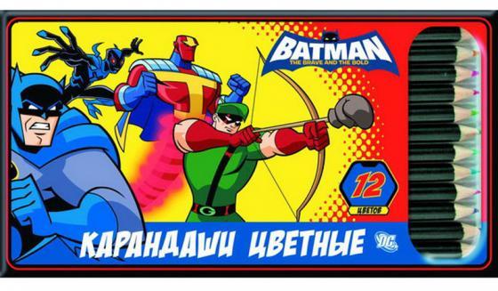 Набор цветных карандашей Action! «Бэтмен: отважный и смелый» 12 шт