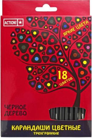 Набор цветных карандашей Action! 4607692490568 18 шт 160 мм набор цветных карандашей 18 шт spider man classic