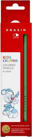 Набор цветных карандашей Фабрика Красина ВЕСЕЛЫЙ КРОЛИК 6 шт 176 мм набор графитовых карандашей index i555 6 6 шт