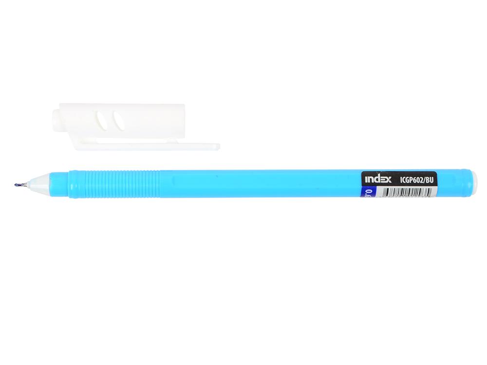 Гелевая ручка Index Colourplay пластиковый корпус, масляные чернила, 0,6мм, синяя ICGP602/BU ручка шарик everest пластик полупрозрачн корпус масляные чернила 0 5мм красная пакет