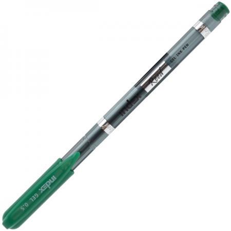 Гелевая ручка Index Reed пластиковый тонированный корпус, 0,5мм, зеленая IGP101/GN