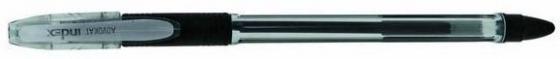 Гелевая ручка Index ADVOKAT, прозрачный корпус, черная, 0,5мм цена