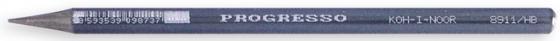 Карандаш чернографитный Koh-i-Noor PROGRESSO HB, серый лаковый корпус без дерева 8911 HB