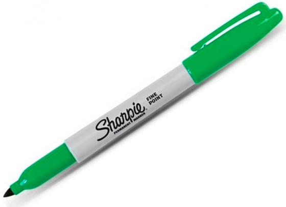 Маркер перманентный Paper Mate SHARPIE FINE, зеленый, 1,0 мм PM-S0810960 paper cutting