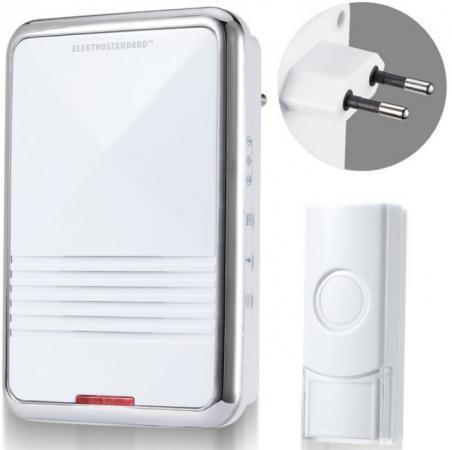 Звонок беспроводной Elektrostandard DBQ11M AC 36M IP44 белый 4690389059629 звонок дверной elektrostandard dbq12m ac 36m ip44
