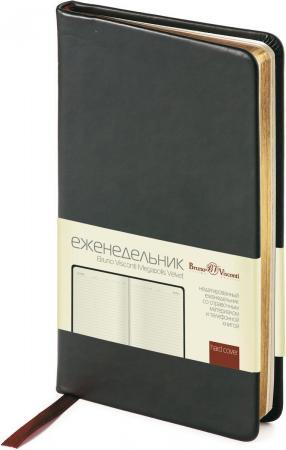 Еженедельник недатированный Bruno Visconti MEGAPOLIS VELVET чёрный, бежевая бумага, золотой обр., ля апплика дневник школьный цвет розовый