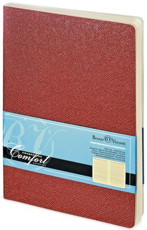 Ежедневник недатированный Bruno Visconti COMFORT, красный, лин., 320 с., ф. А5, разм. 142х210 мм 3-4