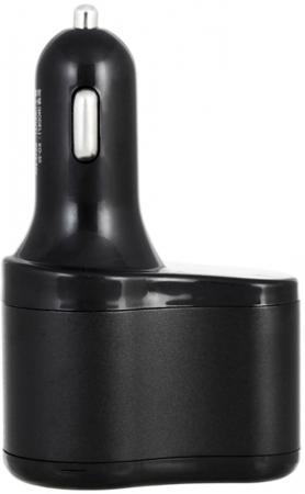 Разветвитель прикуривателя Wiiix TR-11U2 черный автомобильные зарядные устройства wiiix разветвитель прикуривателя с одним usb портом tr 02u wiiix premium line