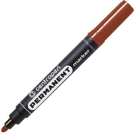 Маркер перманентный Centropen коричневый, круглый наконечник, 2,5 мм, термостойкие чернила