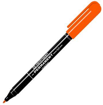 Маркер перманентный Centropen  оранжевый, 1 мм, колпачок с клипом
