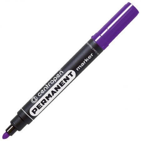 Маркер перманентный Centropen фиолетовый, круглый наконечник, 2,5 мм, термостойкие чернила маркер флуоресцентный centropen 8722 1о оранжевый 8722 1о