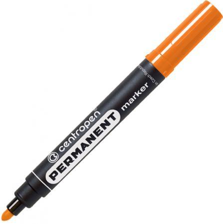 Маркер перманентный Centropen оранжевый, круглый наконечник, 2,5 мм, термостойкие чернила маркер флуоресцентный centropen 8722 1о оранжевый 8722 1о