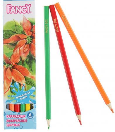 Набор карандашей акварельных ACTION! FANCY,европодвес, 6 цв. FCP301-06 карандаши восковые мелки пастель action набор карандашей 12 цв