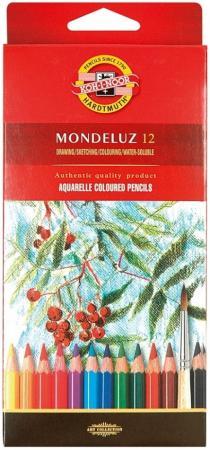 Набор карандашей акварельных Koh-i-Noor MONDELUZ, 12 цв., картонная упаковка с европодвесом