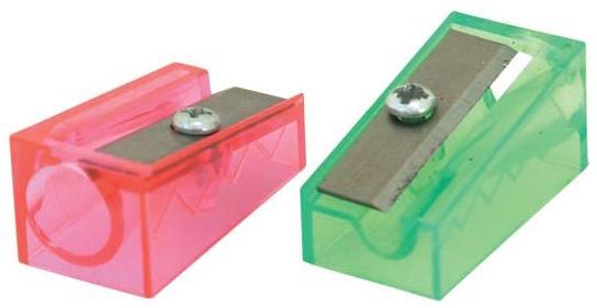 Точилка Action! FANCY, клиновидная форма, прозрачная|2 BP/FSH100/1 точилка пластмассовая клиновидная форма 104 01 999