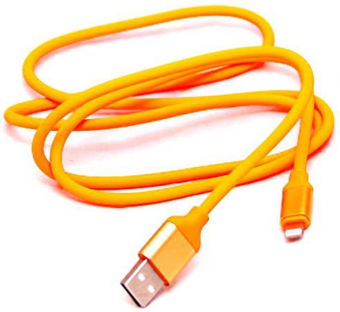 Кабель-переходник WIIIX CB120-U8-10OG USB-8pin оранжевый кабель lightning 1м wiiix круглый cb120 u8 10b