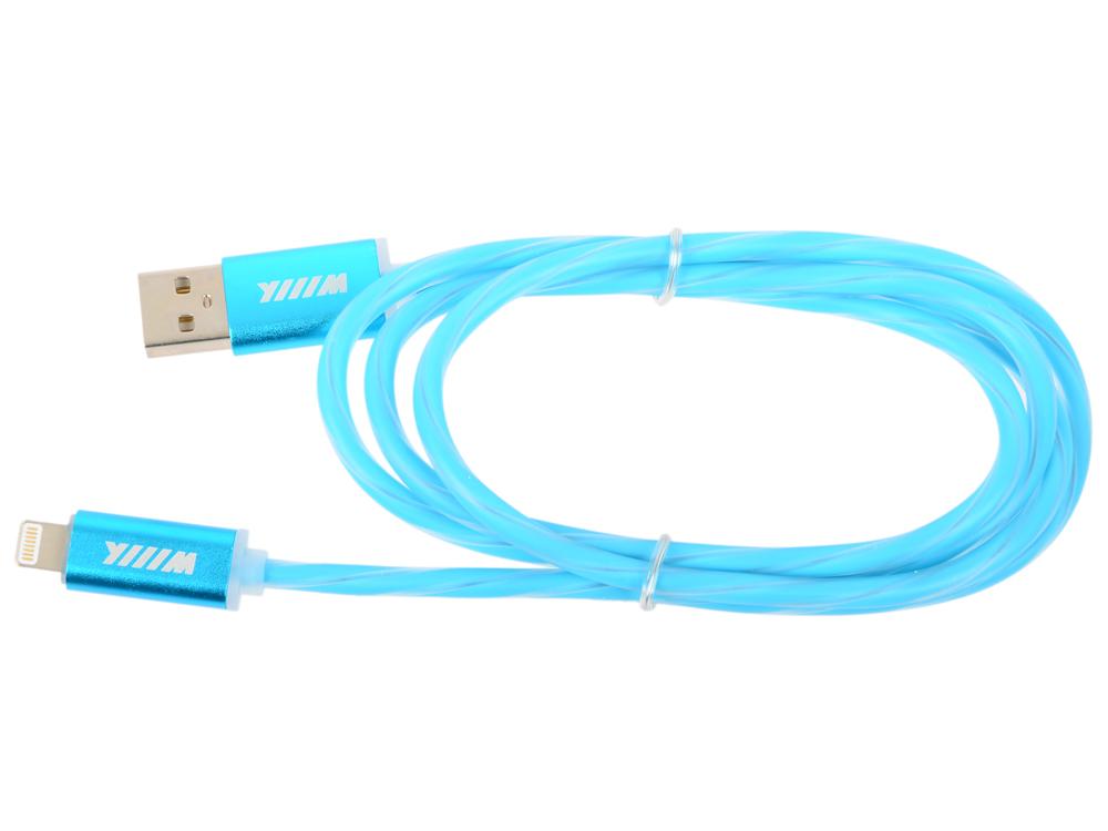 Фото Кабель-переходник WIIIX CBL710-U8-10BU USB-8pin синий кабель lightning 1м wiiix cbl710 u8 10bu круглый