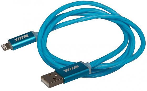 Кабель-переходник WIIIX CB120-U8-10BU USB-8pin синий кабель lightning 1м wiiix круглый cb120 u8 10b