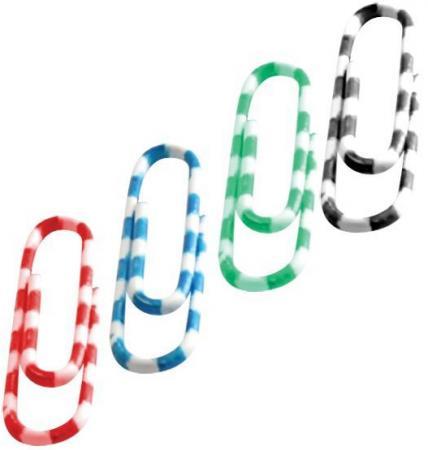 Скрепки Index Зебра 50 шт 28 мм разноцветный IPC1028ZEB скрепки зебра металл винил 50 мм 30 шт блистер