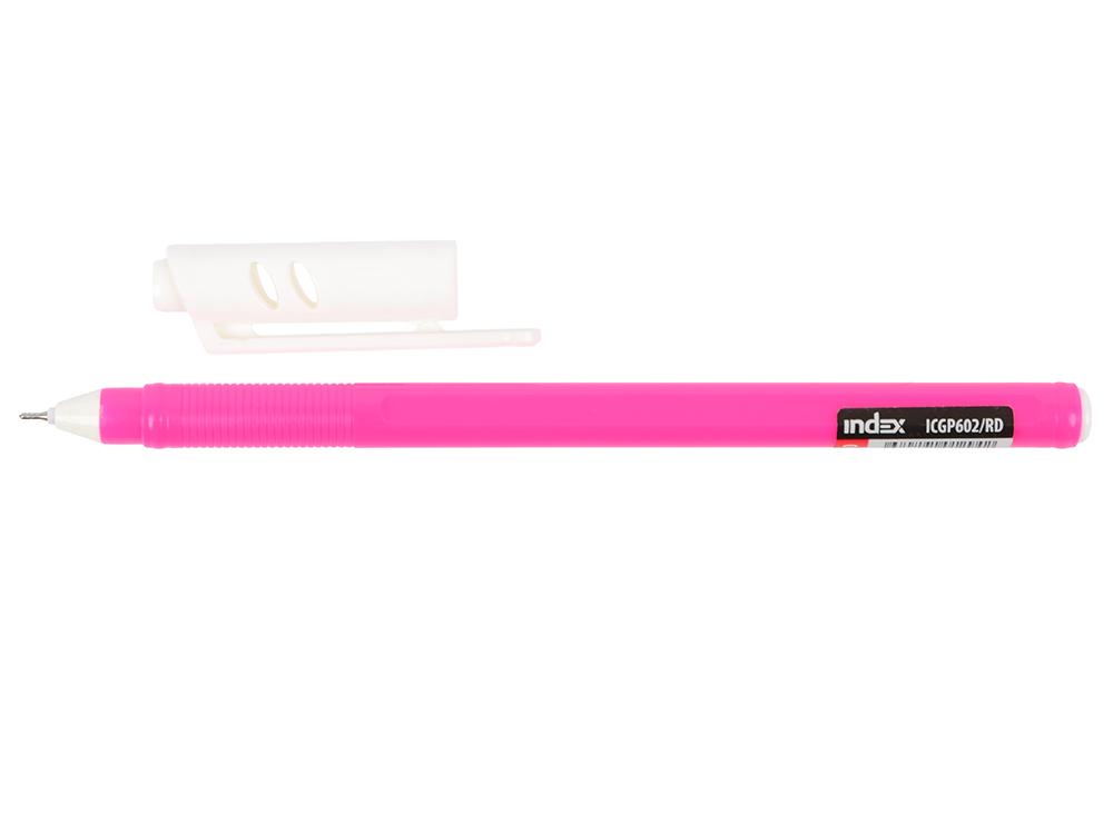 Гелевая ручка Index Colourplay пластиковый корпус, масляные чернила, 0,6мм, красная ICGP602/RD ручка шарик everest пластик полупрозрачн корпус масляные чернила 0 5мм красная пакет