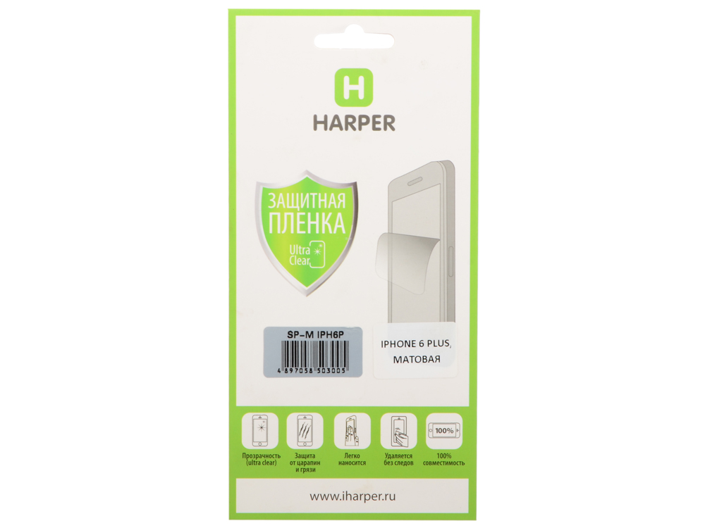 Защитная пленка HARPER для Apple IPhone 6 Plus (матовая) SP-M IPH6P защитная пленка для iphone 6 plus 6s plus cellular line spefiph655