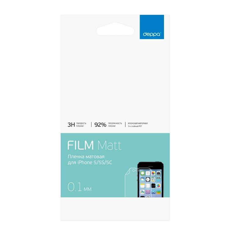 Пленка защитная Deppa для Apple iPhone 5/5S/5C/SE, матовая 61007 стоимость