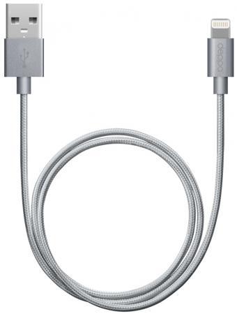 Кабель Deppa USB - 8-pin для Apple алюминий/нейлон MFI 1.2м графит 72189 deppa набор deppa азу сзу 1а дата кабель 8 pin для apple ultra mfi white