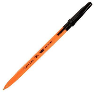Ручка шариковая CARIOCA CORVINA 51, желтый корпус, 0,7 мм, черная40383/01G/28311 387 01g