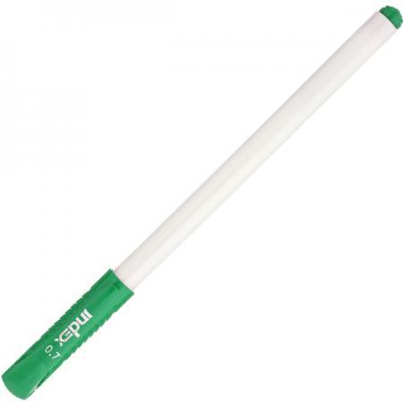 Шариковая ручка Index непрозрачный корпус, зелёные масляные чернила, 0,7 мм IBP4160/GN шариковая ручка автоматическая index непрозрачный корпус с трехгранным держателем 0 5 мм зеленая