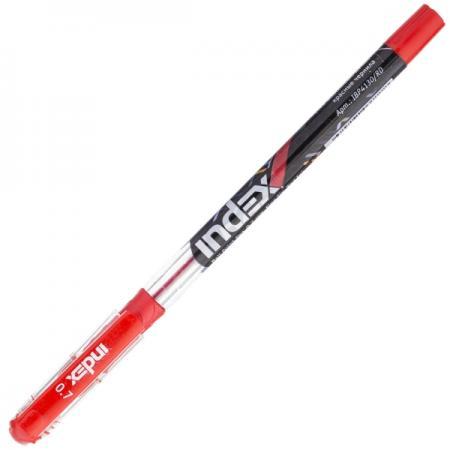 Шариковая ручка Index пластиковый непрозрачный корпус в дизайне, 0,7мм, красная IBP4130/RD шариковая ручка автоматическая index непрозрачный корпус с трехгранным держателем 0 5 мм зеленая