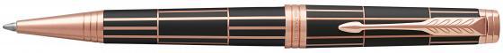 Шариковая ручка автоматическая Parker PREMIER Luxury Brown PGT,  кор.лак, с гравировкой, позол.детал ручка шариковая parker premier soft k560 1876397 brown pgt m чернила черный ювелирная латунь