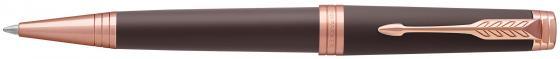 Шариковая ручка автоматическая Parker PREMIER Soft Brown PGT,матовый коричн. лак, розовая позолота,ч ручка шариковая parker premier soft k560 1876397 brown pgt m чернила черный ювелирная латунь
