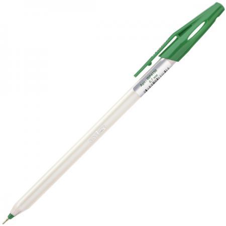 Шариковая ручка Index непрозрачный трехгранный корпус, зелёные масляные чернила, 0,7 мм IBP4150/GN шариковая ручка автоматическая index непрозрачный корпус с трехгранным держателем 0 5 мм зеленая