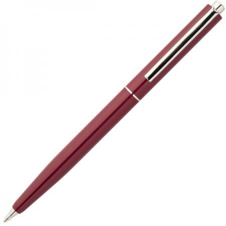 Шариковая ручка автоматическая Index серебристый мет.клип, красный пластиковый корпус, синие масляны ручка шариковая автоматическая centrum indigo 0 7мм синие чернила
