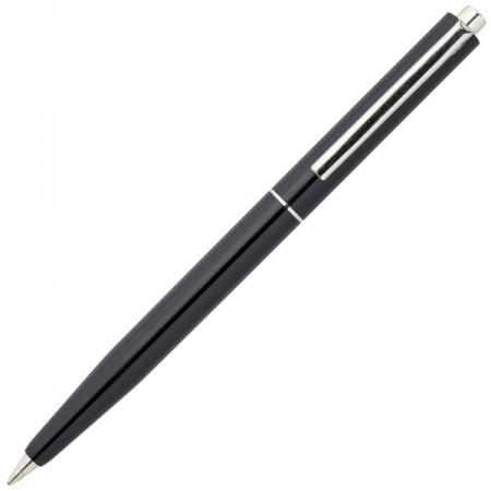 Шариковая ручка автоматическая Index серебристый мет. клип, черный пластиковый корпус, синие масляны ручка шариковая автоматическая centrum indigo 0 7мм синие чернила