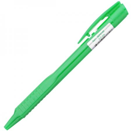 Шариковая ручка автоматическая Index непрозрачный корпус с трехгранным держателем, 0,5 мм, зеленая шариковая ручка автоматическая index непрозрачный корпус с трехгранным держателем 0 5 мм зеленая